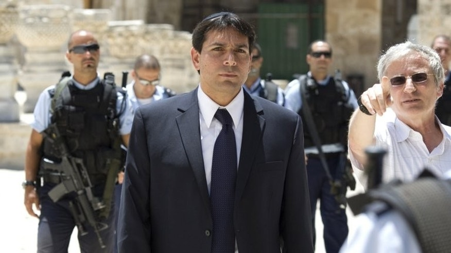 Likud's Danny Danon tours the Temple Mount or Al-Aqsa Mosque Compound in East Jerusalem's Old City on July 20, 2010. Danon, who serves as deputy defence minister, sparked uproar earlier this month after he came out against a Palestinian state.