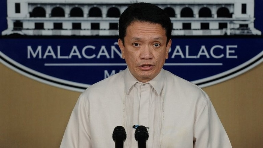 This photo taken on February 11, 2011 shows chief Philippine government negotiator Alexander Padilla speaking at a news conference in Manila. Padilla said Tuesday he was resigning, citing his frustration over the continuing stalled talks.