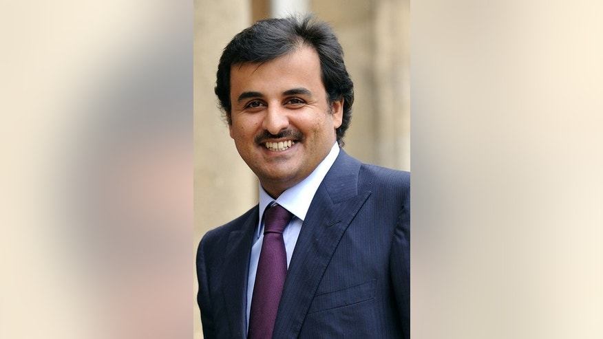 Sheikh Tamim bin Hamad al-Thani arriving at the Elysee Palace in Paris on February 3, 2010. Tamim, born in 1980, is the second son of the emir and his second wife Sheikha Mozah and has been groomed for years to take the helm of the super-rich Western ally.