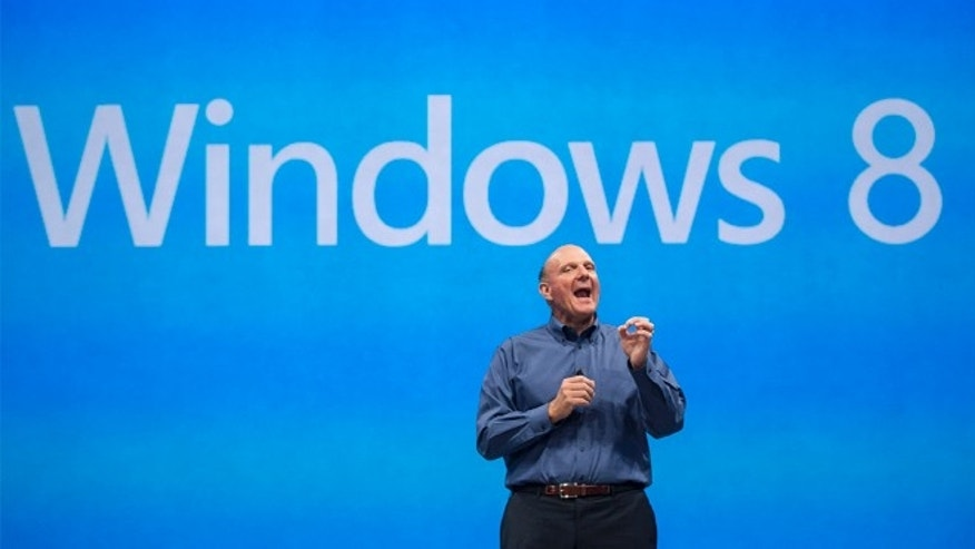 FILE- In this Monday, June 18, 2012, file photo, Microsoft CEO Steve Ballmer comments on the Windows 8 operating system before unveiling its new Surface, a tablet computer  to compete with Apple's iPad at Hollywood's Milk Studios in Los Angeles. Microsoft on Wednesday, June 25, 2013 will release a preview of Windows 8.1, a free update that promises to address some of the gripes people have with the latest version of the company's flagship operating system. (AP Photo/Damian Dovarganes, File)