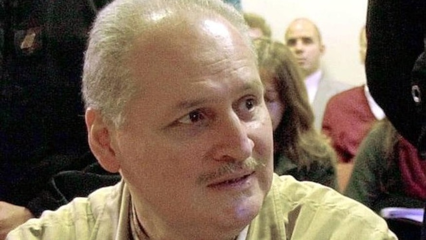Ilich Ramirez Sanchez, known as the infamous terrorist Carlos the Jackal, foreground, sits in a Paris courtroom in this Nov. 28,  2000  file photo.