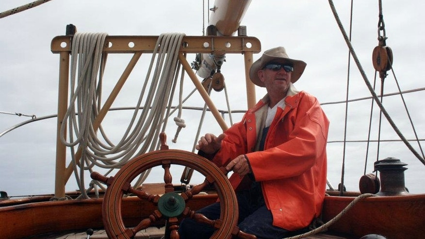 Undated photo provided by the St. Andrews Historic Seaport and Commercial Marina in Panama City, Fla. shows American David Dyche, skipper of the 70-foot vessel Nina.