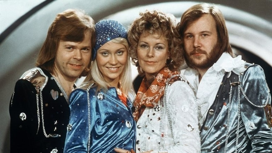 Swedish pop group Abba (from L to R) Bjorn Ulvaeus, Agnetha Faltskog, Anni-frid Lyngstad and Benny Andersson, pose on February 9, 1974. Two rare ABBA recordings along with clogs and clippings will go under the hammer in Stockholm in August when a vast collection of memorabilia of the legendary group goes on sale, an auction house said Friday.