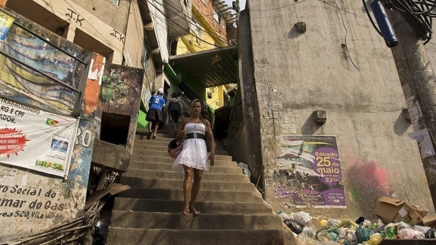 La Rocinha favela or shantytown in Rio de Janeiro, Brazil. More than 1.5 million people have taken to the streets across Brazil during the Confederations Cup to protest poor public services as well as the cost of staging this event and next year's World Cup.