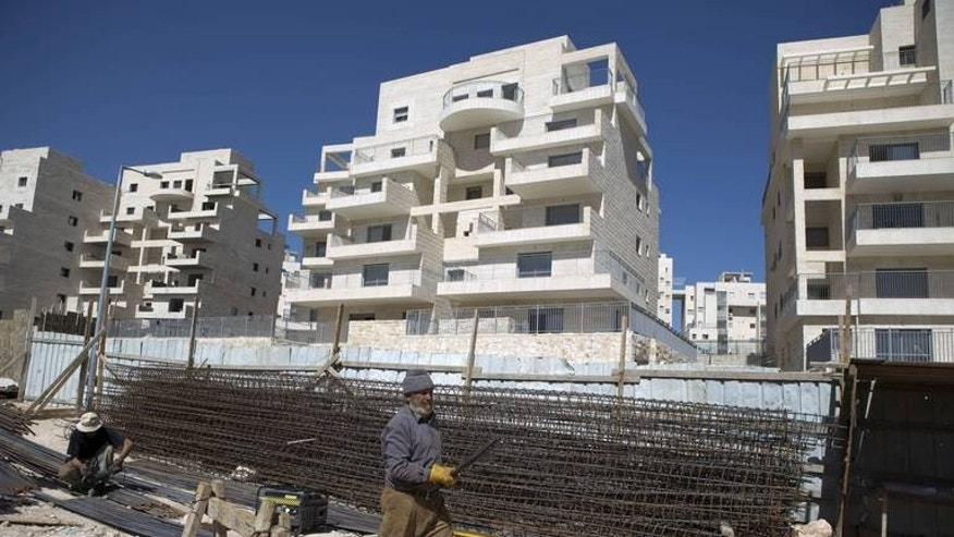 A housing construction site in the Israeli settlement of Har Homa in east Jerusalem in February. A plan to offer prospective buyers a huge discount on 930 new homes to be built in Har Homa, will be discussed by Jerusalem municipality's finance committee on Monday, army radio and the Maariv newspaper reported.