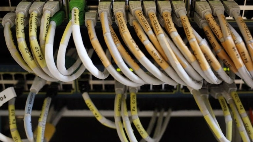 Telecom network cables are pictured in Paris, on June 30, 2013. The European Union angrily demanded answers from the United States over allegations Washington had bugged its offices, the latest spying claim attributed to fugitive leaker Edward Snowden.