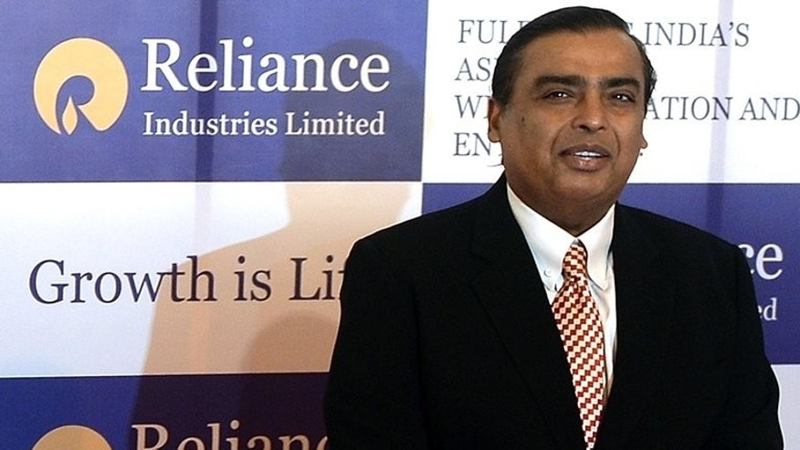 Reliance Industries chairman Mukesh Ambani at the company's AGM in Mumbai on June 6. Fifteen Indian companies including Reliance said they had filed applications for new banking licences before a deadline on Monday, in the first opening of the market in more than a decade.