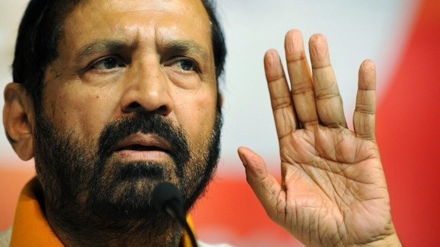 Suresh Kalmadi at a press conference in New Delhi in October 2010. The disgraced Indian sports official on Monday lost his bid to be re-elected president of the Asian Athletics Association (AAA) for a fourth term.