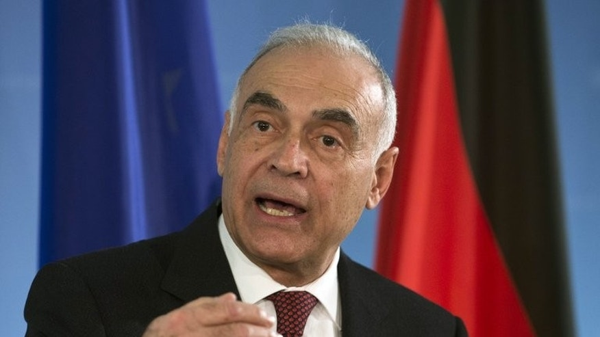 Egyptian Foreign Minister Mohammed Kamel Amr addresses a press conference in Berlin, on November 29, 2012. Amr has tendered his resignation, according to the official MENA news agency.