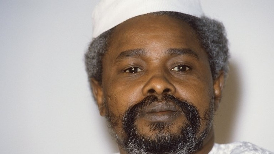 Then-Chad president Hissene Habre is pictured in N'Djamena on January 17, 1987. Senegalese authorities charged Habre with crimes against humanity and remanded him in custody on Tuesday in a prosecution seen by many as a milestone for African justice.