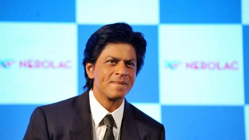 Indian Bollywood Actor Shah Rukh Khan at a promotional event in Mumbai on January 11, 2013. Khan became a father for the third time at the end of May, Mumbai officials said Wednesday, amid a controversy over whether the actor and his wife had undergone an illegal prenatal sex test.