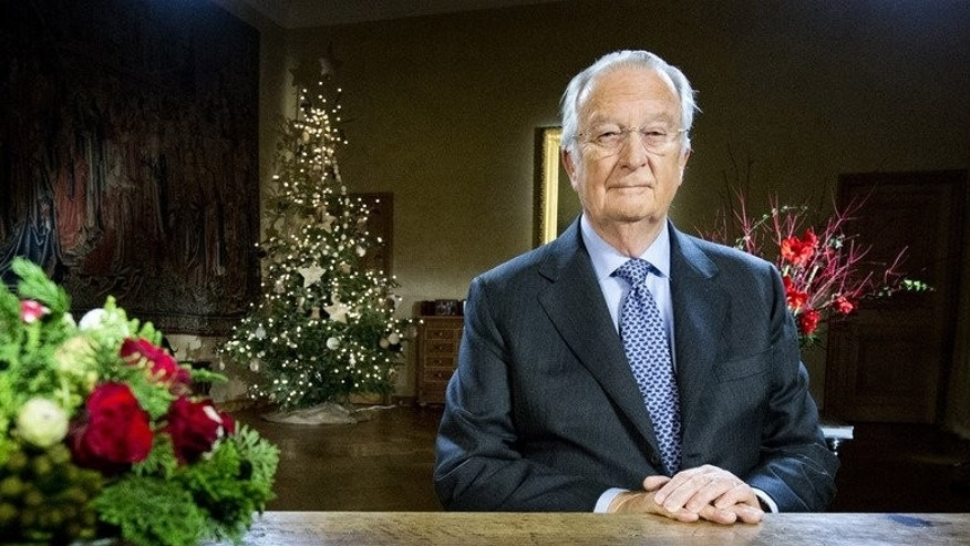 King Albert II of Belgium records his yearly Christmas message in Brussels on December 21, 2012. The king is set to announce he will abdicate on July 21, the country's national day, in a speech to the nation scheduled for 1700 GMT, Belgian media said.