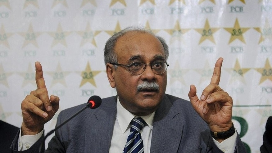 Pakistan Cricket Board (PCB) interim chairman Najam Sethi addresses a press conference in Lahore, on June 24, 2013. Pakistan cricket has reached its lowest point, Sethi said, calling for a string of defeats, cheating allegations, teams refusing to tour and court cases to be resolved quickly.
