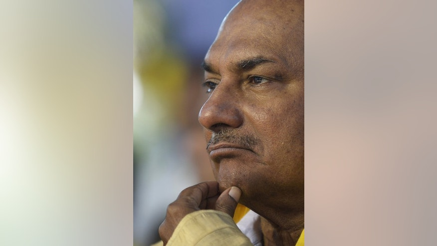 Indian defence chief A.K. Antony attends a ceremony in Kolkata, on January 9, 2013.
