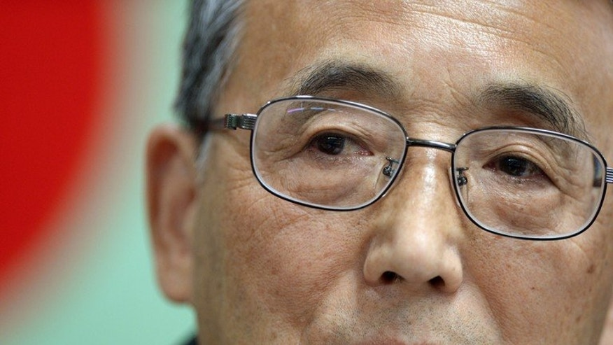Shunichi Tanaka -- the chairman of the Nuclear Regulation Authority -- answers a question during his press conference in Tokyo, on July 4, 2013. Japan will have one of the world's best atomic power safety regimes, Tanaka pledged before adding that the full restart of the nation's nuclear plants is some way off.