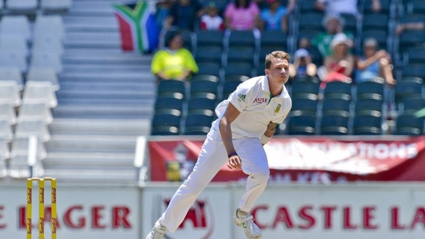 South Africa bowler Dale Steyn launches the ball during a Test match against Pakistan in Johannesburg at Wanderers Stadium on February 3, 2013. Steyn was excluded from two national squads Thursday for an 18-day tour of Sri Lanka.