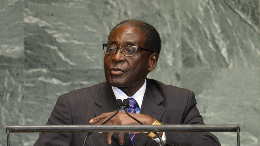 Zimbabwe President Robert Mugabe speaks during the 67th session of the United Nations General Assembly in New York, on September 26, 2012. Presidential elections in Zimbabwe will go ahead on July 31, the disputed date originally set by Mugabe, the country's top court has ruled.