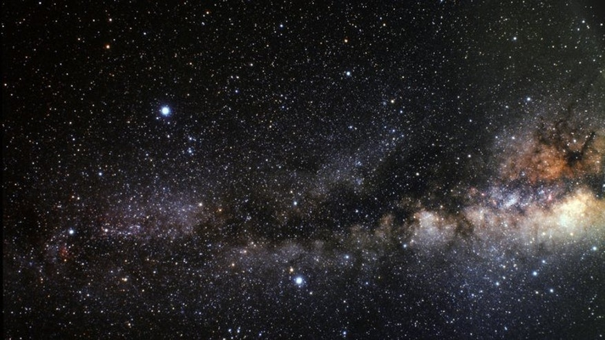 "An image released by the European Space Agency (ESA) shows the asterism of the ""Summer Triangle"" and where the extrasolar planet known by the tag of HD 189733b is orbiting very close to the centre of the triangle. European astronomers said on Friday they had devised a technique to detect water in the atmosphere of planets orbiting other stars."