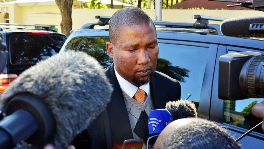 Mandla Mandela speaks to the media in Johannesburg last month. Born in 1974 to Mandela's late son Makgatho, he is the first Mandela to have followed his famous grandfather into politics.