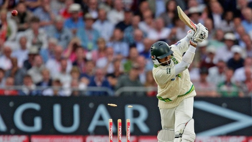 Danish Kaneria loses his wicket to England's Stuart Broad at Trent Bridge in July 2010. Pakistan on Friday endorsed England's decision to uphold the life ban on Danish Kaneria, calling on the leg-spinner to reflect on his conduct and start a process of rehabilitation.