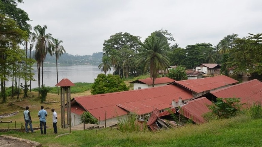 The hospital in Lambarene, Gabon, where Albert Schweitzer worked, seen on June 17, 2013. Born in Alsace, then part of Germany, Schweitzer, a Lutheran, set foot on the mosquito-infested shores of the Ogooue river with his wife in 1913 in what was then one of the most isolated parts of France's colonial empire.