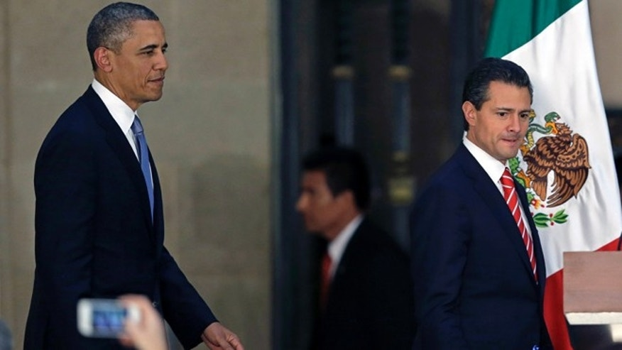President Barack Obama and Mexico's President Enrique Pena Nieto in Mexico City, May 2, 2013.