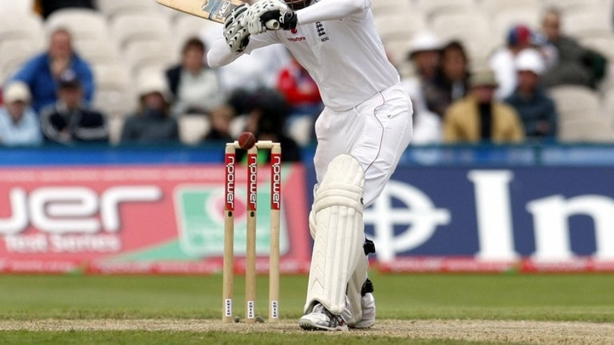 "Michael Vaughan faces a ball for England against New Zealand at Old Trafford in May 2008. Vaughan has slammed English cricket chiefs over the mumber of domestic Twenty20 matches being played ahead of the Ashes, saying he would ""punch them in the face"" if administrators tried to justify their actions."