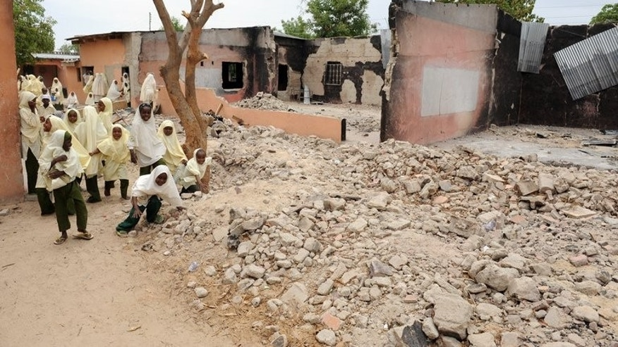 A school in Maiduguri, northeast Nigeria, in May 2012 following an attack by Boko Haram. Gunmen believed to be Islamists from Nigeria's Boko Haram insurgent group killed 42 people, mostly students, in an overnight attack on a secondary school in restive Yobe state, a medical worker and residents said Saturday.