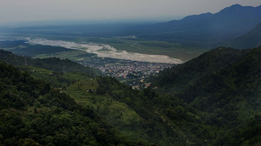 Bhutanese border city Phuentsholing, seen on May 29, 2013. Home to meditating monks and Himalayan nomads, sleepy kingdom has set its sights on becoming an unlikely energy powerhouse thanks to its abundant winding rivers.