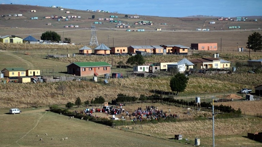A view of the Mandela Gravesite in Qunu on June 15 during the burial of 97-year old Florence Mandela. Nelson Mandela has often said he wants to be laid to rest in his childhood village of Qunu in the rural south.