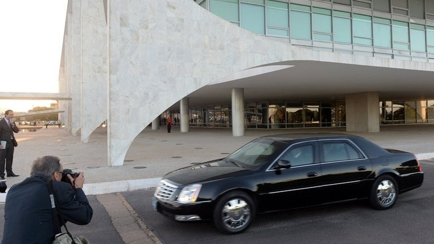 US Ambassador to Brazil, Thomas Shannon, leaves Planalto palace on July 8, 2013, in Brasilia. Brazil is to investigate reports of US electronic spying on its citizens, with President Dilma Rousseff saying that, if proven, such action would constitute a violation of sovereignty.