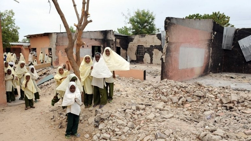 The Maiduguri Experimental School in, northeast Nigeria, in May last year following an attack by Boko Haram. The latest attack early Saturday saw gunmen storm a secondary boarding school in the village of Mamudo, where they rounded up students and staff in a dormitory, threw explosives and opened fire, killing 42 people, almost all of them students.