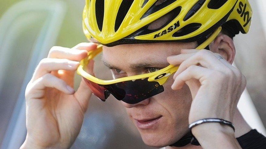 Britain's Chris Froome is seen before a training session on July 8, 2013 in La Baule, western France. Froome and his Sky team are looking to Wednesday's time trial in a bid to extend his lead over key rivals who put a dent their overall victory plans.