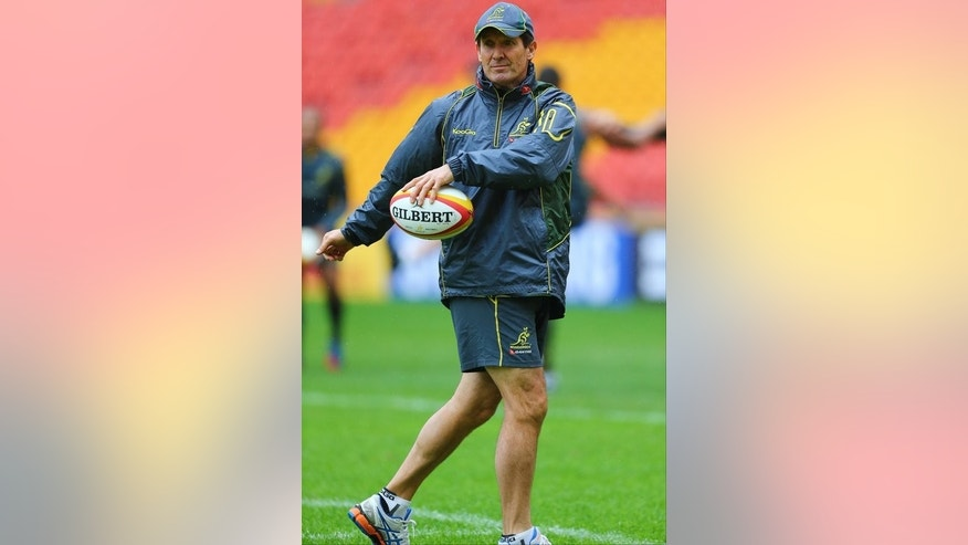 Robbie Deans pictured during the captain's run at Suncorp Stadium in Brisbane on June 21, 2013. Deans, a former All Black and the most successful Super Rugby coach in history, has had a chequered time with the Wallabies with a 58% success rate.