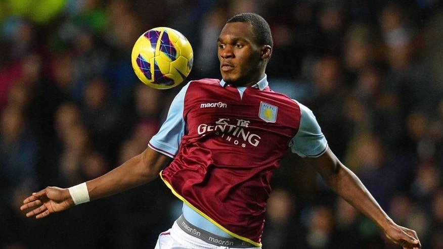 Aston Villa's Belgian striker Christian Benteke controls the ball during a Premier League match against Newcastle United at Villa Park in Birmingham on January 29, 2013. The close-season bidding war is on for Benteke after the Aston Villa striker handed in a surprise transfer request.