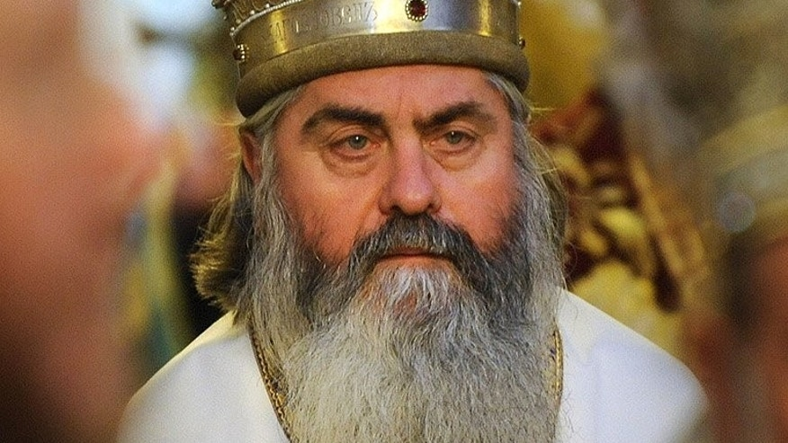 This photo taken on January 21, 2012 shows Bishop Kiril, during an orthodox mass in the Alexander Nevski cathedral in Sofia. The controversial Bulgarian bishop -- who spied for the Communists and had a taste for luxury cars -- has been found dead on a Black Sea beach.