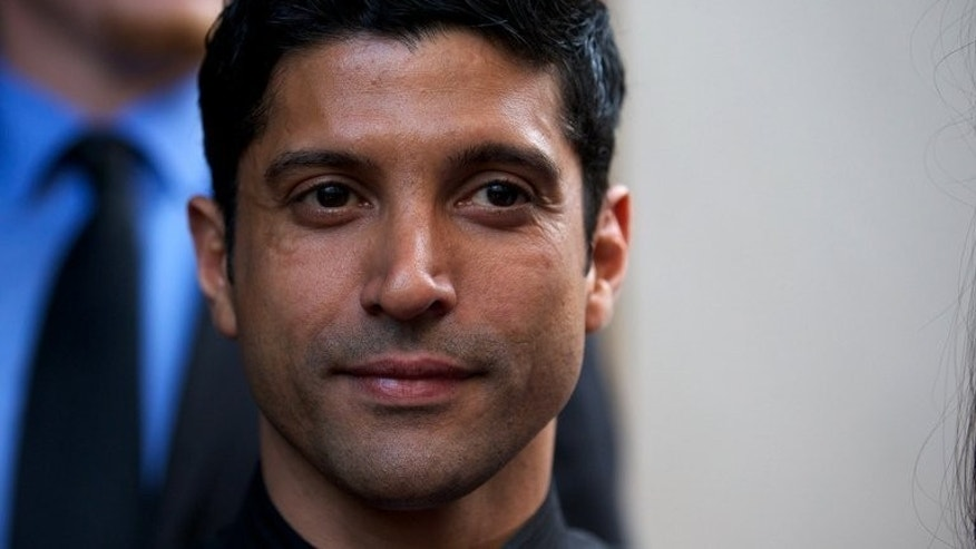 "Actor Farhan Akhtar at the gala screening of Bollywood film ""Bhaag Milkha Bhaag"" in London on July 5, 2013. Akhtar, who plays Milkha Singh in the movie, said portraying a living person was a huge responsibility that required months of physical and mental preparation."