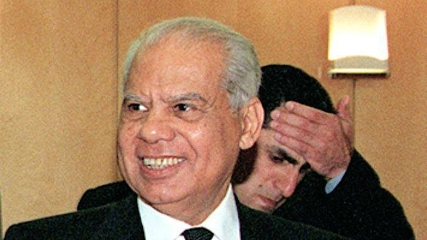 Hazem al-Beblawi arrives to attend a meeting in Beirut on May 27, 1999. Egypt's interim president named liberal economist Hazem al-Beblawi, a former finance minister, as the country's new prime minister.