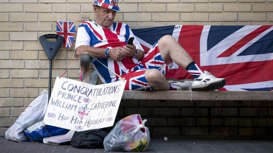 Royal supporter Terry Hutt outside Saint Mary's Hospital in London on July 10, 2013, as he awaits the birth of the royal baby. A flurry of studies in recent years have examined names as predictors of success -- with some surprising results.