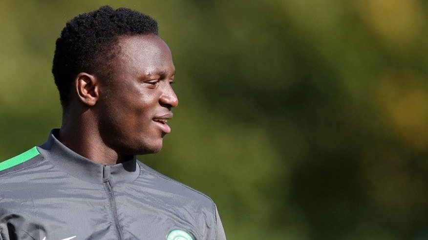 Celtic's Kenyan midfielder Victor Wanyama takes part in a training session at the Lennoxtown training facility near Glasgow, Scotland, on September 18, 2012. Southampton signed Wanyama from Scottish champions Celtic for a fee reported to be a club record ??12.5 million ($18.9 million) on Thursday.