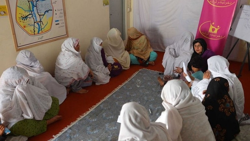 Women attend a jirga in Saidu Sharif, Pakistan, on June 20, 2013. The Swat valley has become synonymous with abysmal women's rights. It was here that the Taliban shot schoolgirl activist Malala Yousafzai in the head last year.