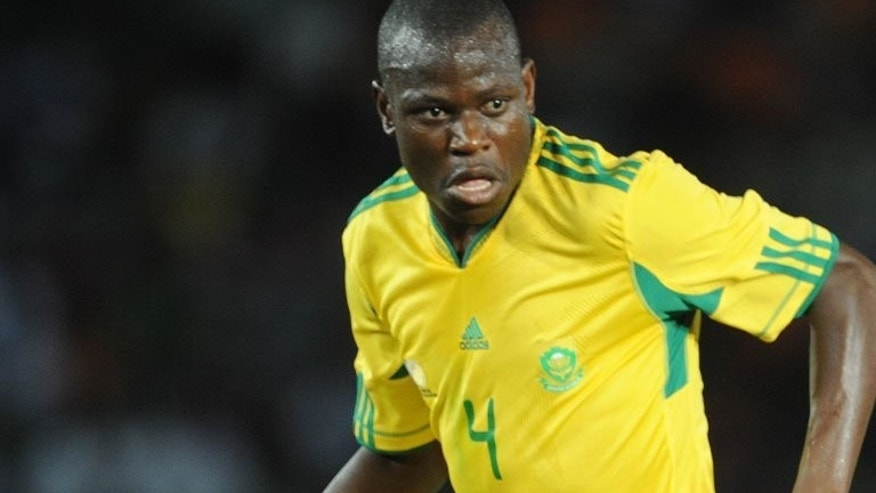 Hlompho Kekana of South Africa, seen in action in Dar Es Salaam, on May 14, 2011. Favourites S.Africa and Zimbabwe endured some anxiety on Saturday before reaching the Cosafa Cup semi-finals. 'Bafana Bafana' (The Boys) overcame bogey team Namibia, 2-1, before a capacity Nkoloma Stadium crowd.