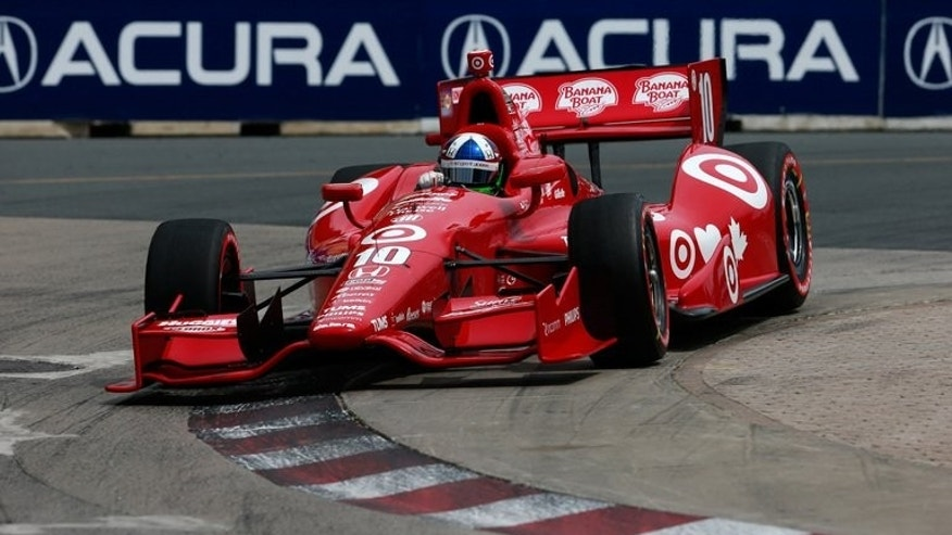 Dario Franchitti of Scotland, drives the Target Chip Ganassi Racing Honda during qualifying for the IZOD INDYCAR Series Honda Indy Toronto on July 12, 2013 in Toronto, Canada.
