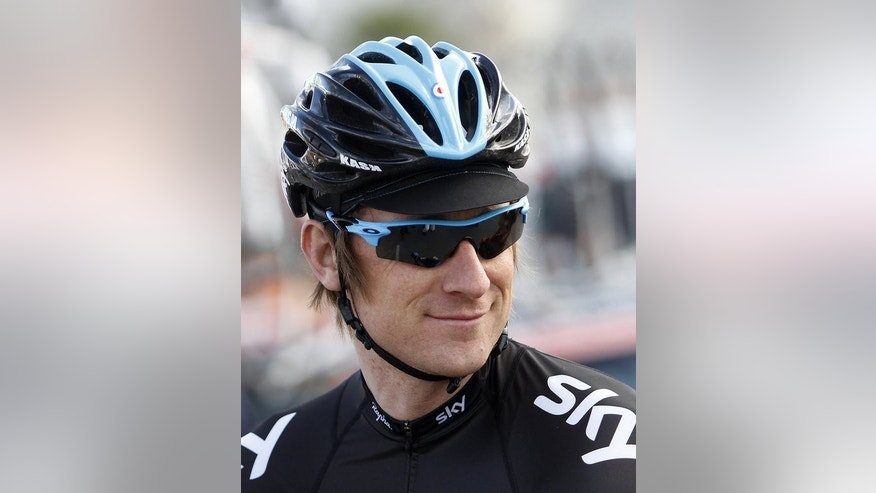 British rider Bradley Wiggins of Team Sky smiles prior to the last stage of the 22nd Mallorca Challenge from Alcudia to Playa de Muro on February 6, 2013. Tour de France leader Chris Froome hit out at critics who believe he could be following in the footsteps of shamed drugs cheat Lance Armstrong after his stunning win on Mont Ventoux.