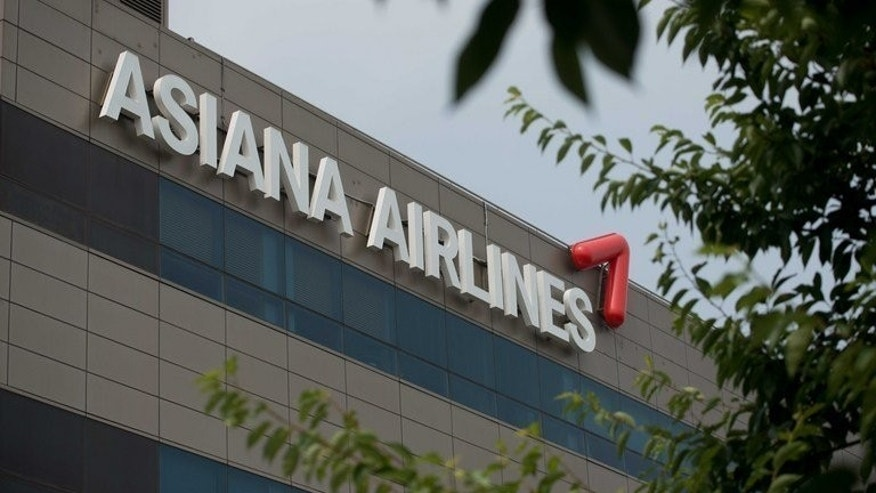 The logo of Asiana Airlines pictured on the company headquarters near Gimpo airport in Seoul on July 7, 2013. South Korea's Asiana Airlines will be subject of a three-week government investigation after one of its passenger jets crash landed in San Francisco, officials said Monday.