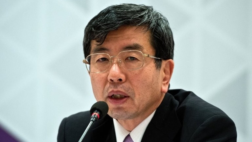 Asian Development Bank (ADB) President Takehiko Nakao, pictured during a visit to India, in Greater Noida, some 40 km east of New Delhi, on May 5, 2013. The bank has lowered its inflation forecasts for developing Asia to 3.5 percent this year and 3.7 percent in 2014, the latter on par with the 2012 rate.