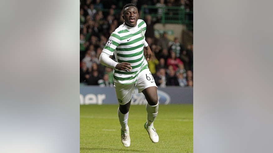 Victor Wanyama celebrates scoring for Celtic on August 29, 2012. The Kenyan midfielder, a key figure last season, has been sold to Southampton.