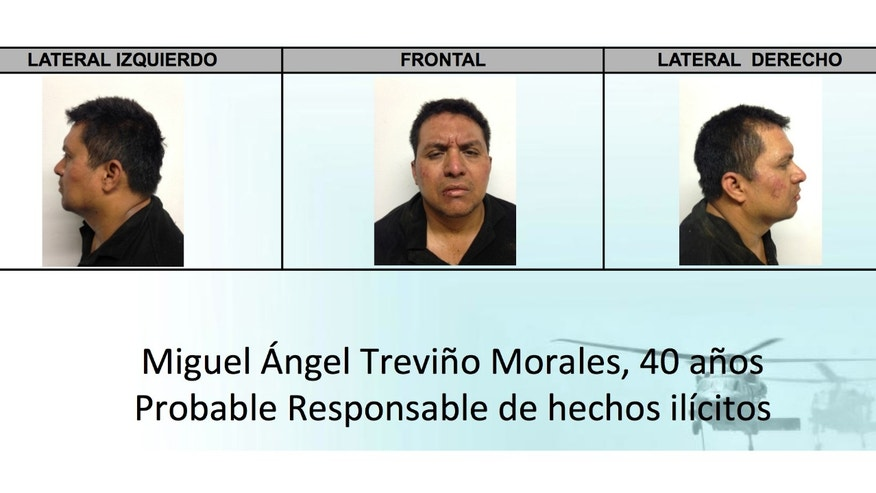 This mug shots released by Mexico's Interior Ministry on Monday, July 15, 2013, show Zetas drug cartel leader Miguel Angel Trevino Morales after his arrest. Trevino Morales, the notoriously brutal leader of the Zetas, was captured by Mexican Marines. (AP Photo/Mexico's Interior Ministry)