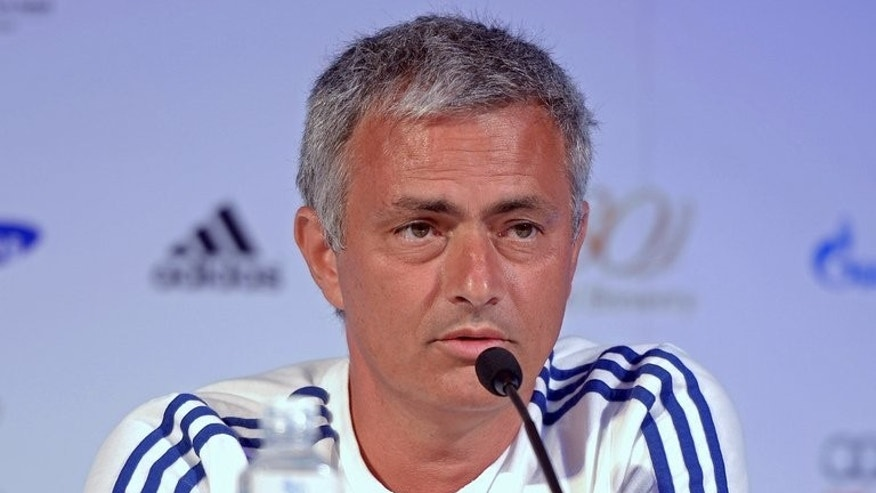 Chelsea manager Jose Mourinho speaks during a press conference in Bangkok, on July 16, 2013. Mourinho says Chelsea will be gunning for victory in all four competitions this season as he prepared to kick off his second spell in charge with a friendly in Bangkok.