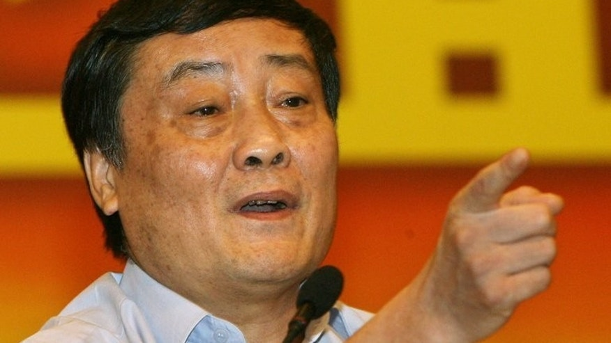 Zong Qinghou, chairman of the Wahaha Group, makes a point during a press conference in Hangzhou, Zhejiang province on July 3, 2007. China's yawning divide between rich and poor does not need to be tackled, the country's richest person said Wednesday -- as long as everyone can become wealthy.